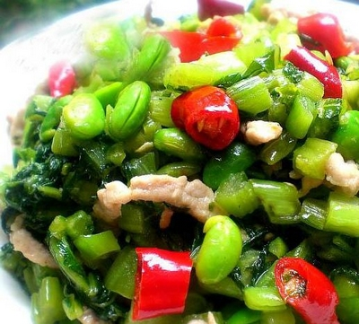 pine nuts dry peas fried Ding